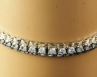 """CZ  Silver  Bracelet 7""""  Sterling"""