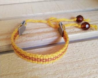 Woven Sunshine Inkle Bracelet
