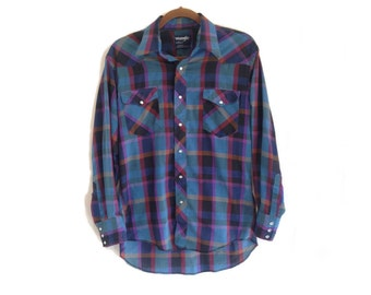 Vintage Wrangler Plaid Shirt