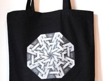 Islamic Dotwork Tote Bag.