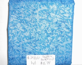 Fairy Frost Fabric - 1yd piece- Sapphire (Blue) Fairy Frost  D#CM 0376/Michael Miller (#2466)