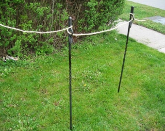 Decorative Outdoor Stanchion with Leaf Motif