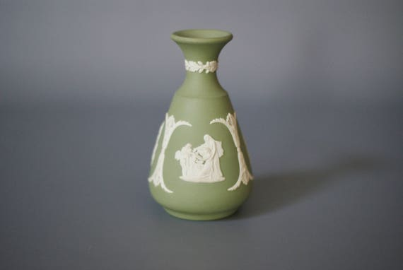 Wedgwood Jasperware Vase Green Jasperware Vase Green