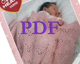 PDF - Baby Ripples, 1996, 7 afghan patterns