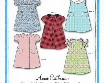 Bonnie Blue Pattern #164 / ANNA CATHERINE / Sizes 3 mo - 24 mo and 3 yr - 6 yr
