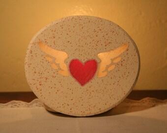Winged Heart    Table Top Version 4watt Lamp