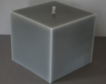 Candles, Outdoorkerze, large, Gartendeko, grey, cube, square, 20 x 20 x 18 cm