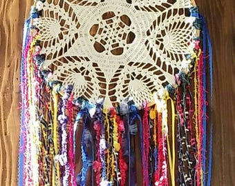 Upcycled Bohemian Dreamcatcher