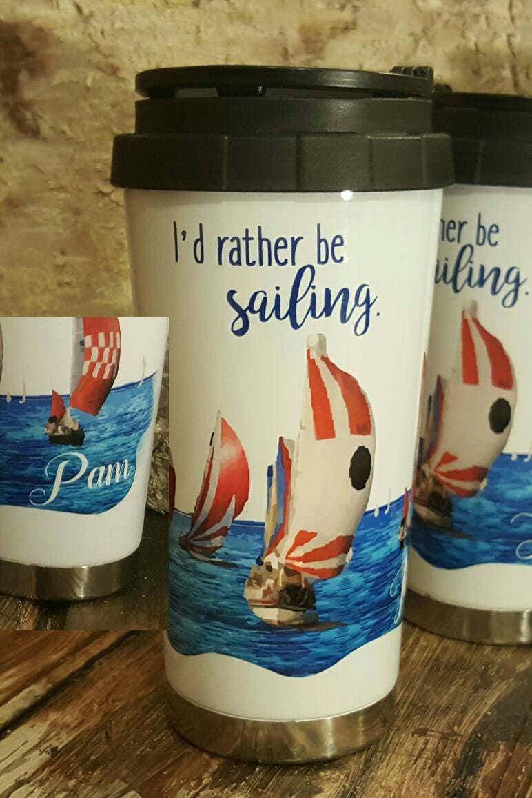 ich w re lieber segeln becher thermoskanne segeln liebhaber. Black Bedroom Furniture Sets. Home Design Ideas