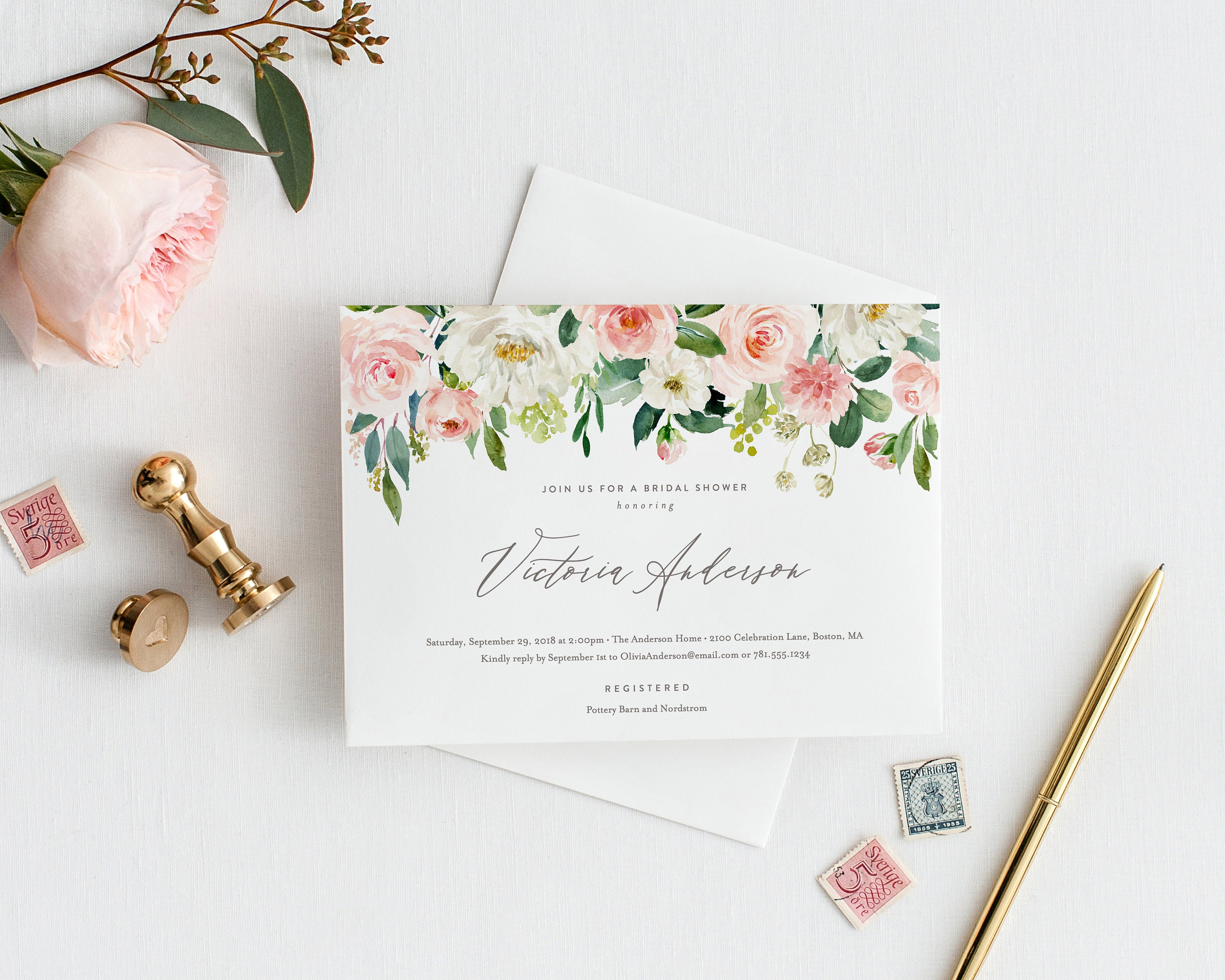 Editable template instant download spring romance bridal shower editable template instant download spring romance bridal shower invitation filmwisefo