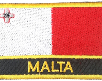Malta  Embroidered Sew or Iron on Patch Badge