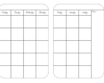UNDATED Monthly Calendar New 2.0 PRINTED , Traveler's Notebook / Fauxdori Insert-  Now Personal AND A6 Size included!!