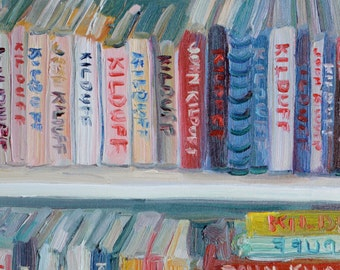 Bookcase full of John kilduff art books