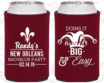 Doing it big and easy, Printed Bachelor Party, Nola Bachelor Party, Mardi Gras Bachelor Party, Bachelor Party Favors (40089)