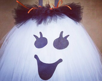 Cutest ghost costume. Sparkly. Glitter. Pagent. Halloween. Bows