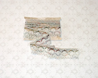 Vintage Rustic Scalloped Flecked Cluny Lace Trim 3yds