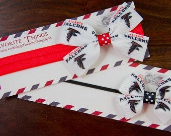 Atlanta Falcons Headband, Atlanta Falcons Pinwheel Bow, Headband, Pinwheel Bow, Baby Headband, Toddler Hair Bow