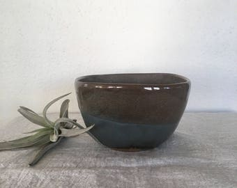 Vintage Pottery,  Pacific Stoneware Pottery Bowl, Vintage Handmade Pottery, Beautiful Pottery Gift Idea, Blue and Brown