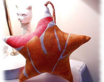 Decorative fabric hanging star
