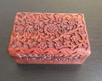 Redwood Flower-Motif Etched Gratitude Box