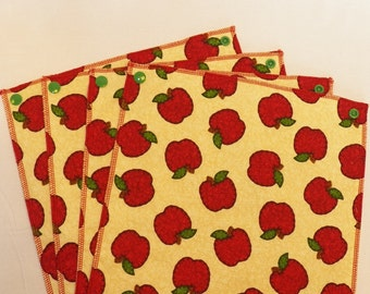 UnPaper Towels- Cleaning Cloths- Eco friendly- Set of 12- Apples- 32011