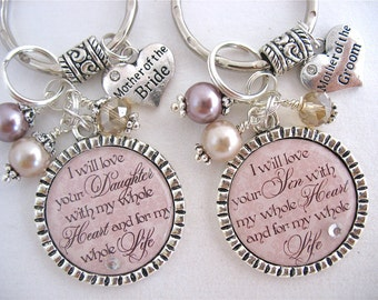 Personalized Wedding Jewelry for MOTHER of the BRIDE, Mother of GROOM Gift,Wedding Necklace,Bridal Party Gift,Inspirational Quote Necklace.