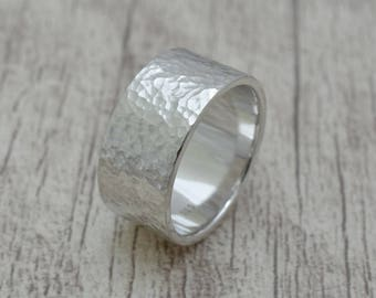 Wedding ring made of 925 Silver (12 mm width)