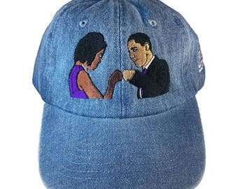 Obamas Fist Bump Baseball Hat