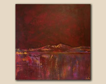 Abstract landscape original painting