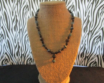 Blue & Black Pearl Necklace