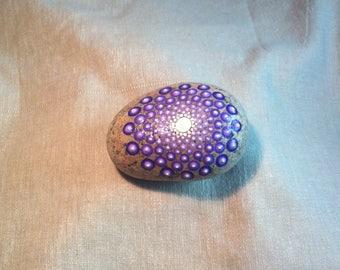 Light purple gradient mandala rock