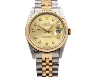 Rolex Men's Datejust 36mm Two-Tone Watch Stainless Steel and 18k Yellow Gold