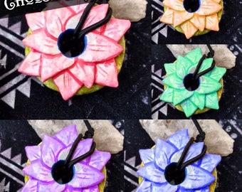 Lotus Loc Tie - Dread Tie, Dreadlock Jewelry, Viking Hair Beads, Elvish Jewelry, Fantasy Apparel, Pixie Clothing, Rave Gear