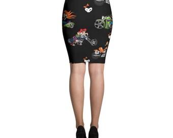Biker Chicks No1 Pencil Skirt