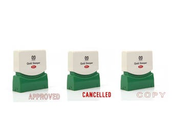 Self Inking Stamper, Quick Stamper, sanby stamper, APPROVED, CANCELLED, COPY, Japan Quality Poduct