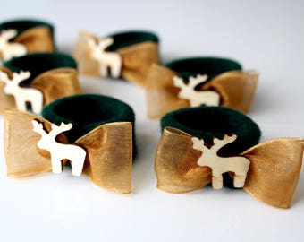 Christmas napkin rings,  Reindeer napkin rings, Christmas Table Decorations, Christmas Home Decor