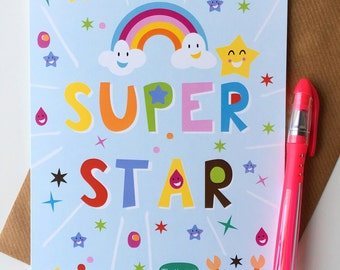 A5 Superstar Greeting Card
