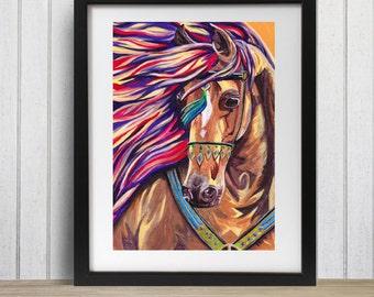 Horse Print, Horse lover gift, Horse wall art decor, Horse decor, Arabian Horse