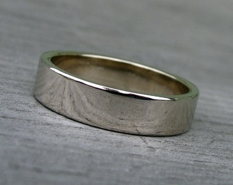 Wedding Band - Recycled 14k White Gold, Made to Order