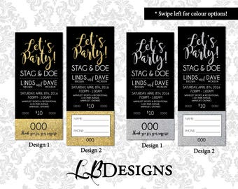 Stag & Doe Tickets - Let's Party/Glitter