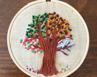 Tree of Life Unique Hand embroidery Hoop Wall art Home decor Wall hanging 4 inch Hoop Gift for all