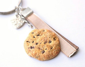 Keychain - realistic Chocolate Chip Cookie