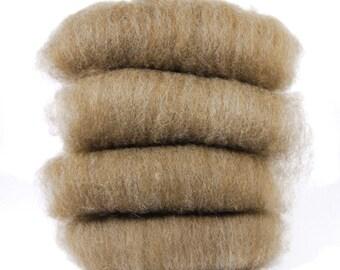 Shetland Alpaca Brown Spinning Batts - 4 ounces