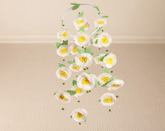 Baby Girl Crib Mobile Baby Girl Nursery Decor Girl Nursery Mobile Flower Mobile Baby Mobiles Hanging Mobile Baby Felt Mobile Cot Mobile Bebe