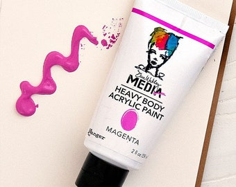 Dina Wakley Media Heavy Body Acrylic Paints - MAGENTA