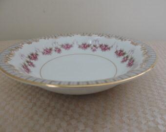 Noritake China 5201 Ridgewood 8  Dessert Bowls Gold Edged Vintage Japan