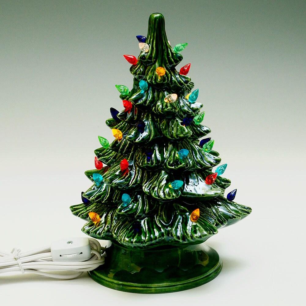 New Small Lighted Ceramic Christmas Tree