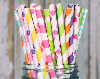 Pailles en papier farfelu arc en ciel lumineux, bâtons de Cakepop arc en ciel, pailles de fête, pailles à boire, guimauve Pop bâtons, pailles arc-en-ciel
