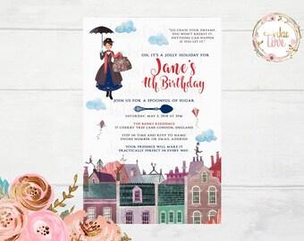 Mary Poppins Invitation