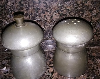 Set of Pewter Salt and Pepper Shakers